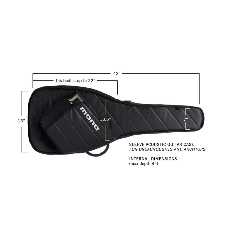 Sleeve Acoustic Guitar Case, Black