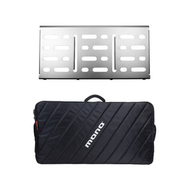 Pedalboard Large, Silver + Pro Accessory Case 2.0, Black