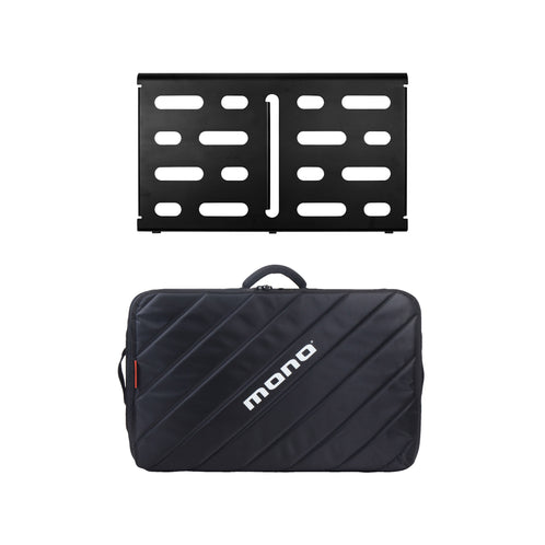 Pedalboard Medium, Black + Tour Accessory Case 2.0, Black