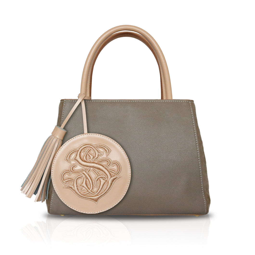 Pony Hair Mini Tote LBrown F