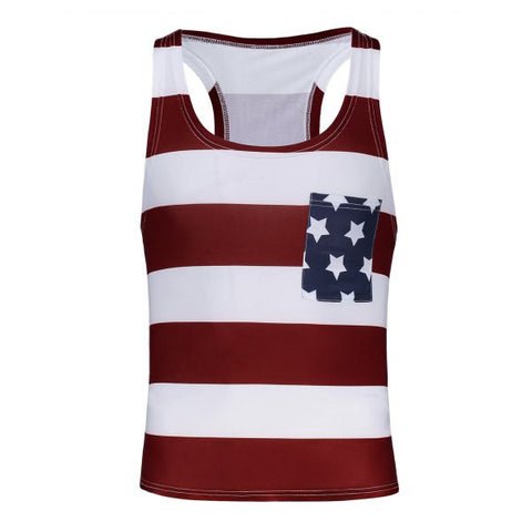Boys' Sleeveless American Flag Tank Top - One Size