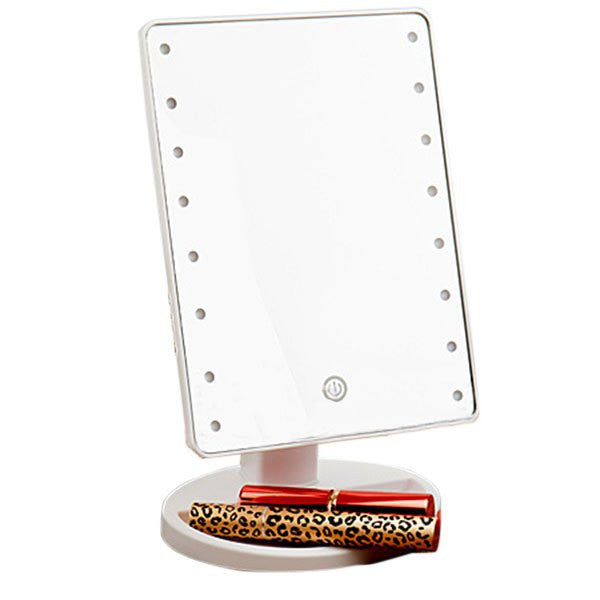 Touch Screen Adjustable Light 16 LEDs Desktop Makeup Mirror