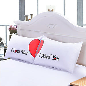 I Love You / I Need You Matching Couple's Pillow Shams