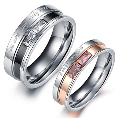 """Only Love"" Couples Ring Set"