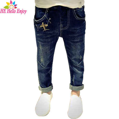 Casual Boys jeans Denim ripped pants teenagers children trousers
