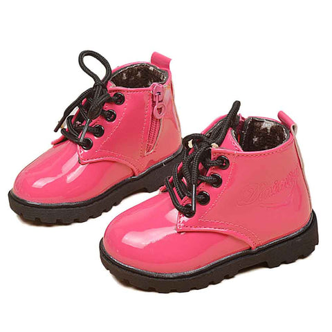 Girls New Ankle PU Boots Kids