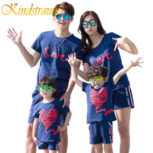 Family Matching Clothes Tops Shorts