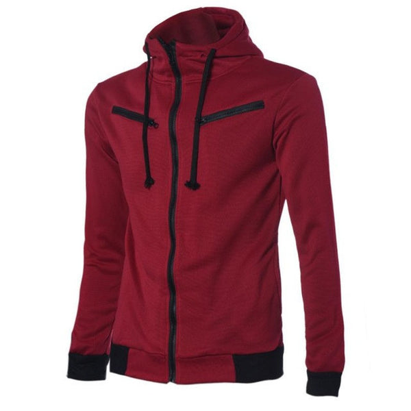 Men's Stylish Hooded Sweatshirt Zipper Coat Jacket Outwear