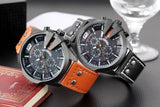 SKONE Men's Chronograph Military Leather and Dial - HobbyRevo