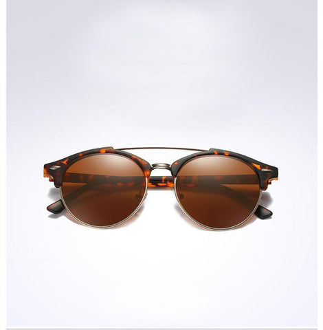 Mirror Round Alloy Frame with Tortoise Brown Lens - HobbyRevo