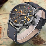 Mini Focus Military Leather and Dial - HobbyRevo