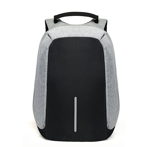 Anti-Theft Concealed Zipper Backpack with USB Port