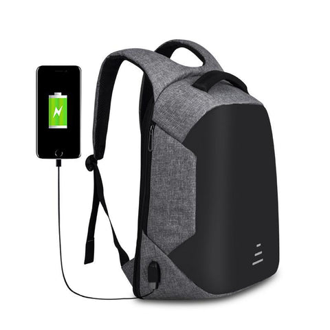 Oxford Anti-Theft Backpack with USB Port - HobbyRevo