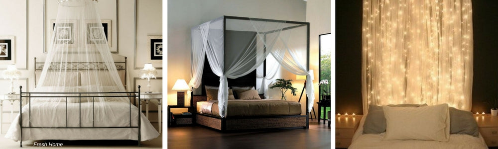 romantic anti mosquito bed curtains