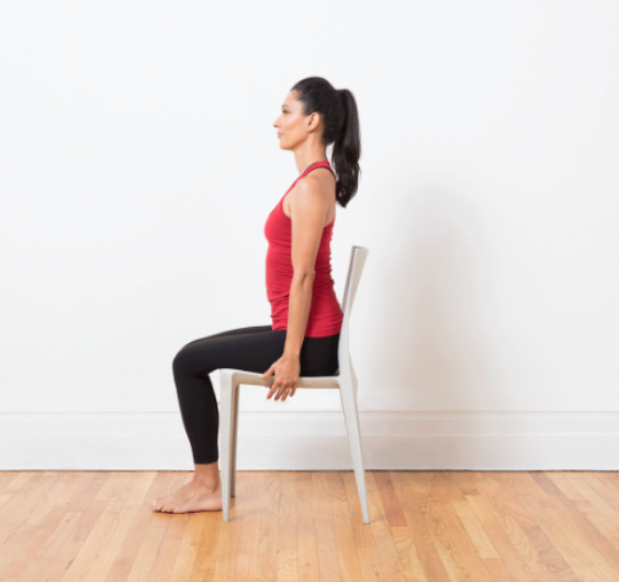 LANGRIA Neck exercises basic position