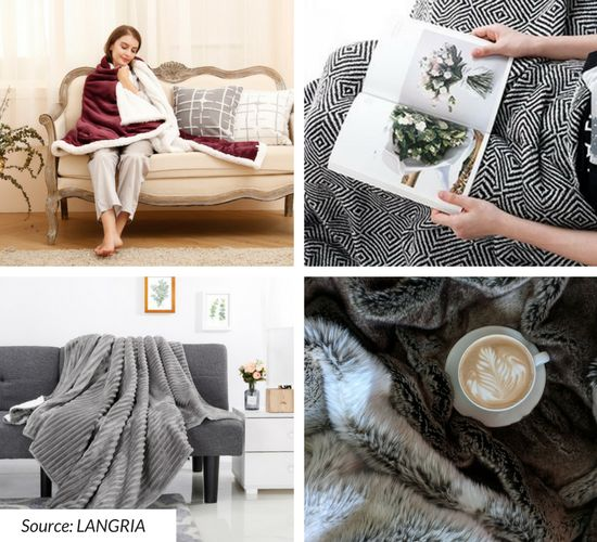 LANGRIA throw blankets adult size