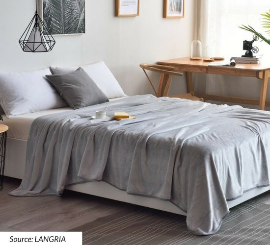 LANGRIA Bed size throw blankets