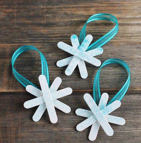 DIY Snowflake Ornaments