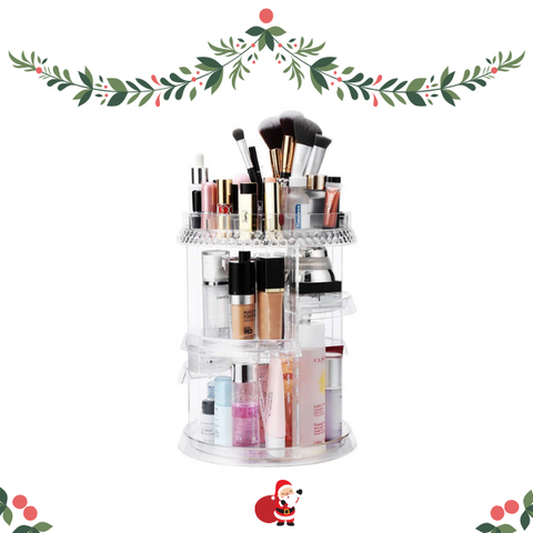 Christmas gifts ideas for teenage girl acrylic 360 rotating makeup organizer
