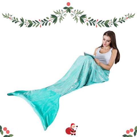 Christmas gifts ideas for teenage girl mermaid blanket
