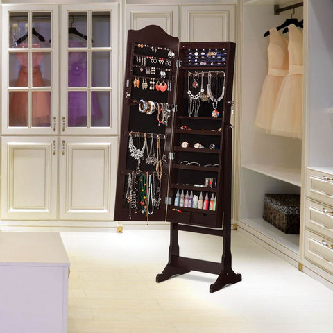 LANGRIA Jewelry Cabinet with Mirror
