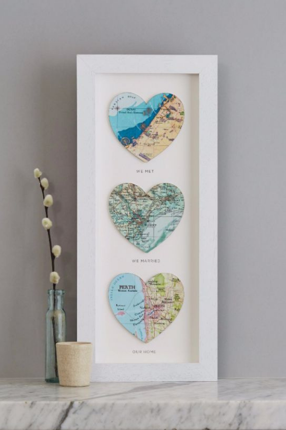 LANGRIA DIY VALENTINE'S DAY GIFTS FOR HIM Heart Map Frame