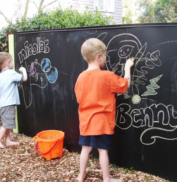 LANGRIA Fun DIY Backyard Games for Kids chalkboard