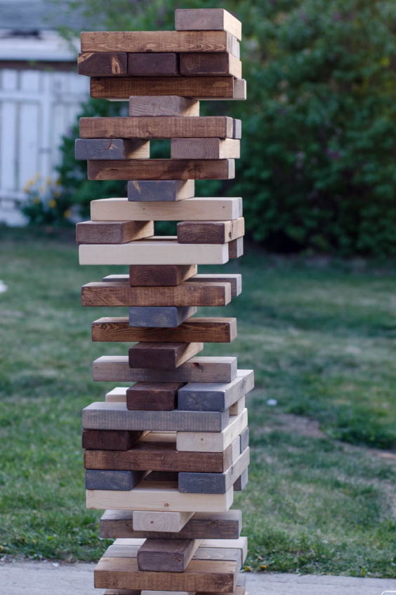 LANGRIA Fun DIY Backyard Games for Kids giant jenga