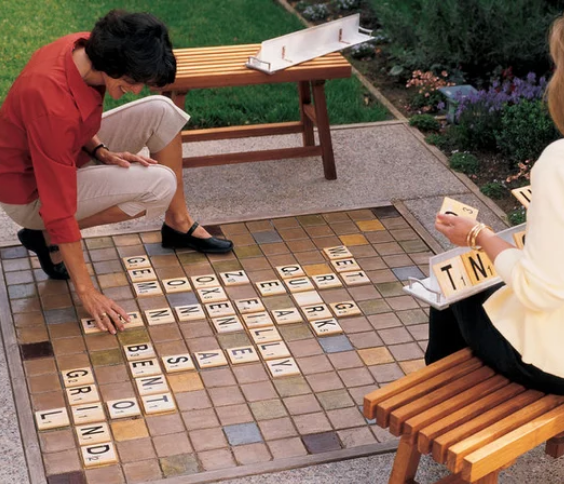 LANGRIA Fun DIY Backyard Games for Kids giant scrabble