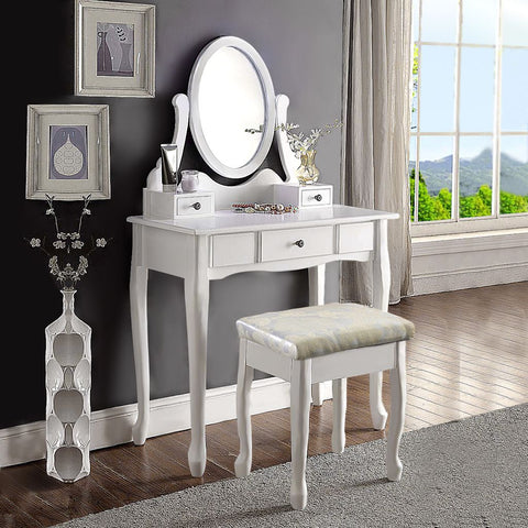 LANGRIA Vanity desk with mirror