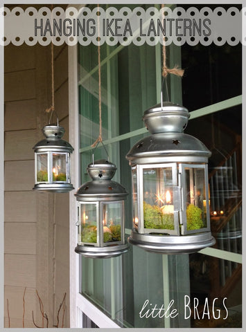 Spring candles porch