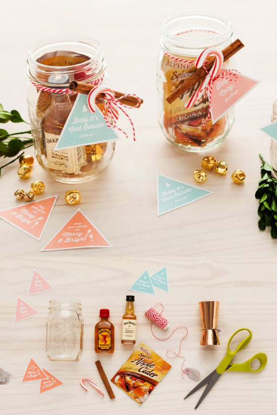 Mason Jar Christmas Gifts Cocktail Kit