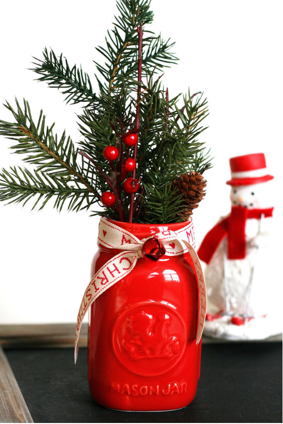 Mason Jar Christmas Gifts Flower Arrangement 3