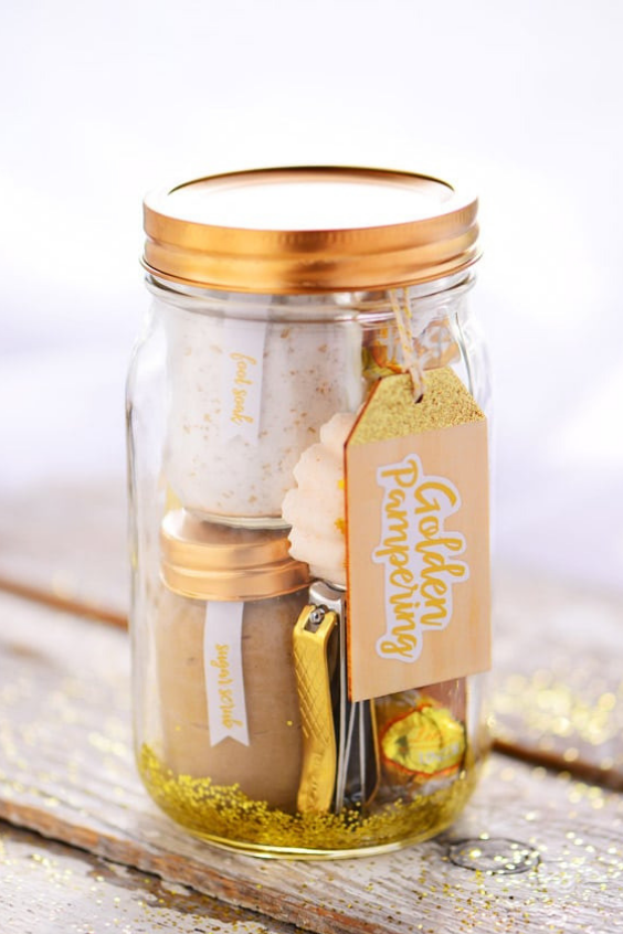 Mason Jar Christmas Gifts Skincare Kit