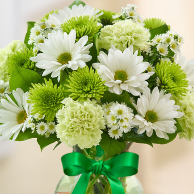 Green Flower Bouquet