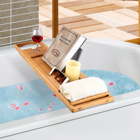 LANGRIA Bamboo Bathtub Caddy Tray