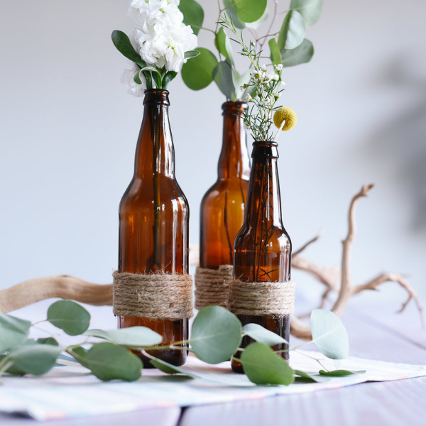 Rustic Flower Bottles