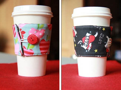 DIY Coffee Cup Sleeves