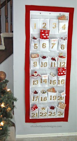 Shoe rack advent calendar