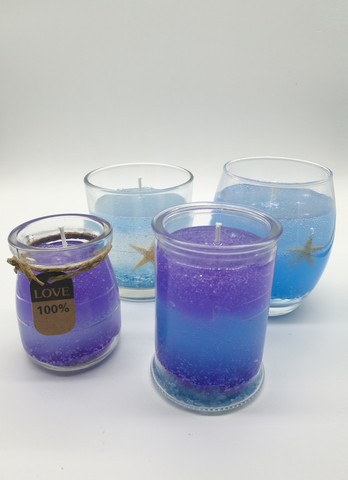 make DIY gel candles