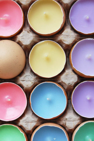 DIY candles Easter