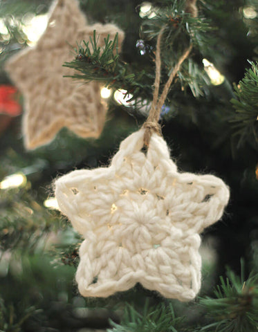 DIY Christmas crochet stars