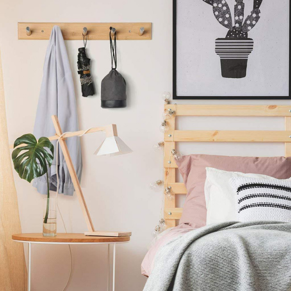 a wall mounted coat rack