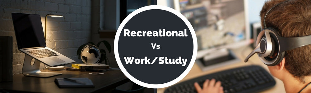 Recreational vs work or study