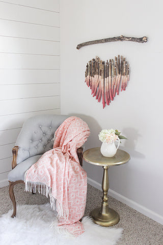 DIY Branch Heart Wall Art