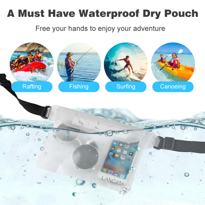 LANGRIA Waterproof Pouch With Adjustable Straps