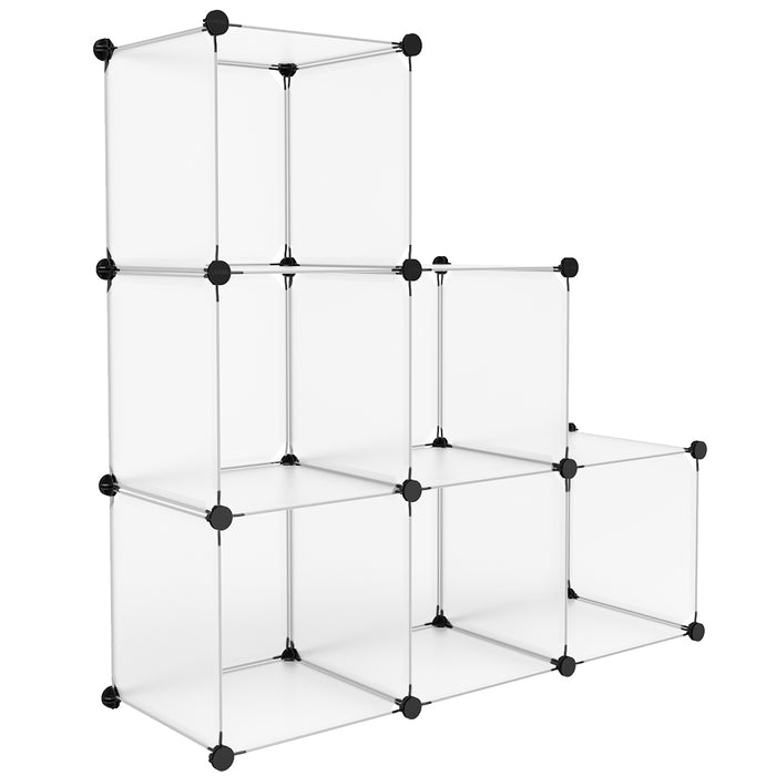 Finether 20-Cube Curly Patterned Black Interlocking Modular Storage