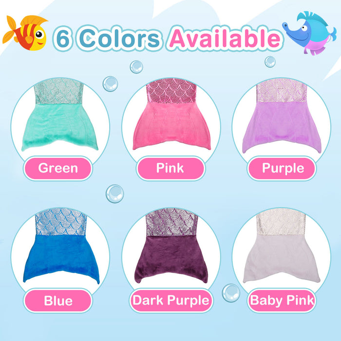 Mermaid Tail Blanket for Children
