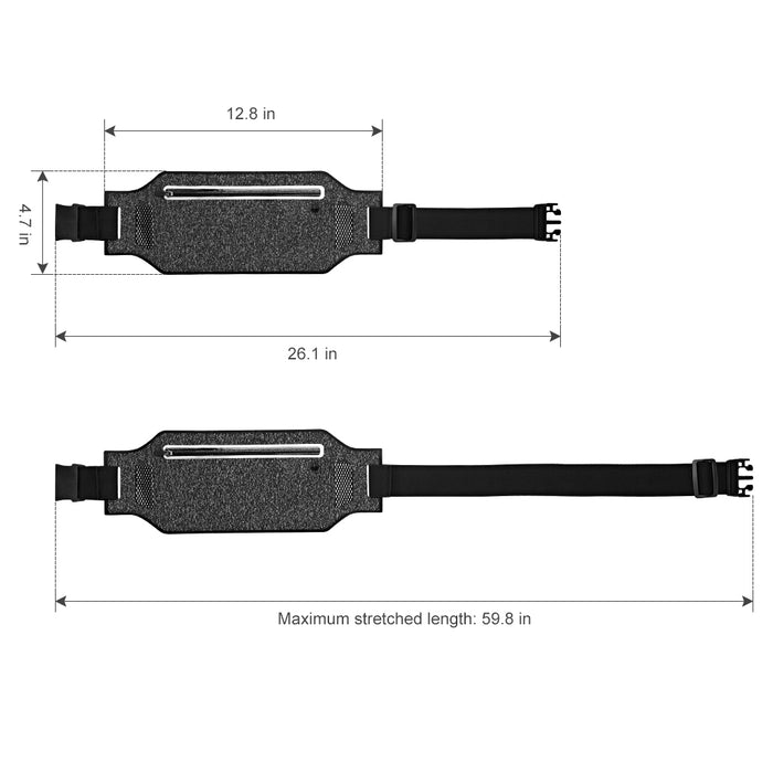 LANGRIA Waterproof Running Belt with Adjustable Strap