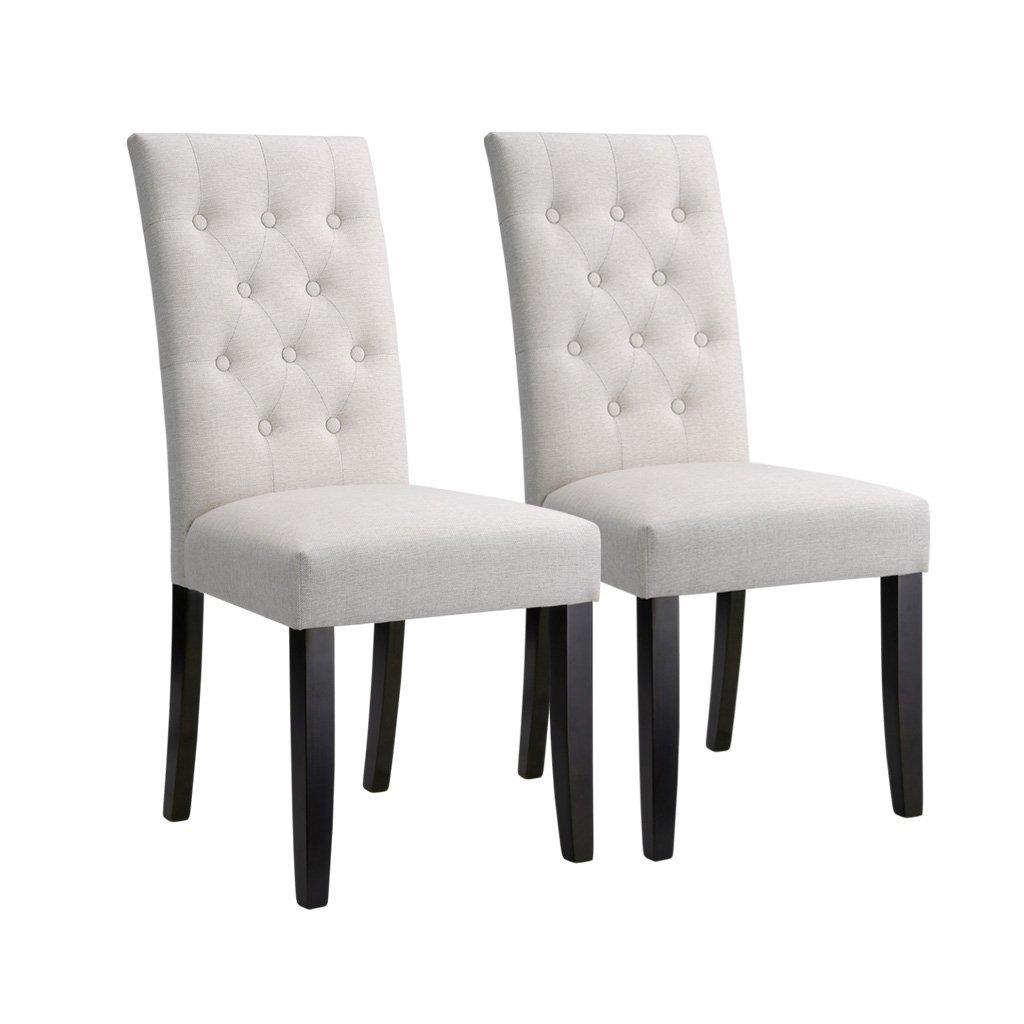 high back dining chairs Modern Faux Linen Upholstered Button Tufted High Back Dining Chair  high back dining chairs